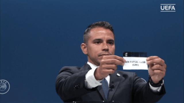 Η ΑΕΚ έμαθε τους αντιπάλους της στα προκριματικά του Futsal Champions League