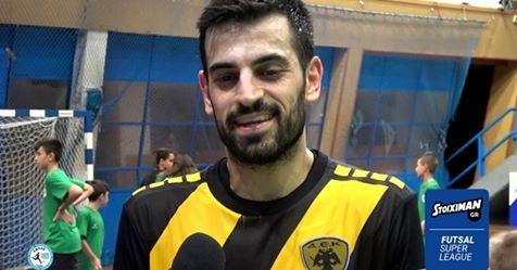 """Μάνος στο Futsalhellas: """"Η ΑΕΚ είναι ένα ξεχωριστό κεφάλαιο στην καριέρα μου"""""""